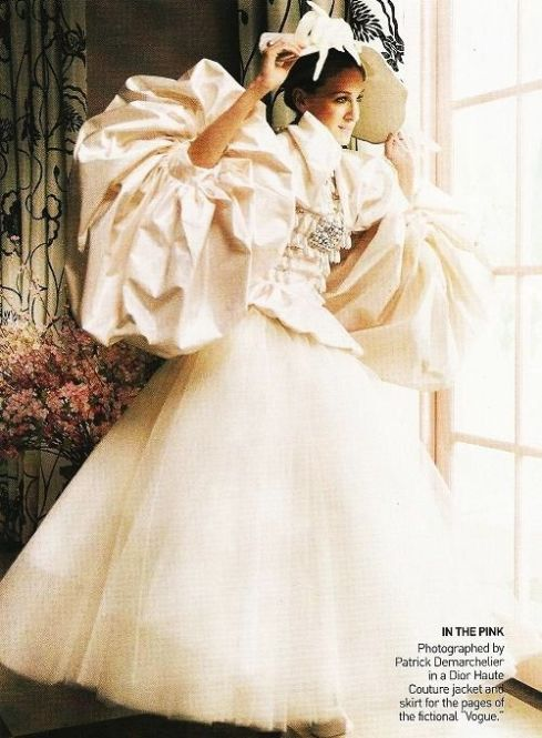 Dior wedding dress featured in the movie when she's trying on dresses! Sex and the city! Carrie Bradshaw!