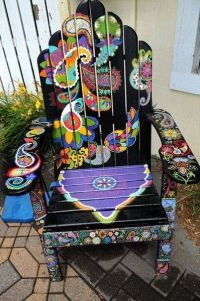 Hand painted adirondack chair   Auction Ideas   Pinterest ...