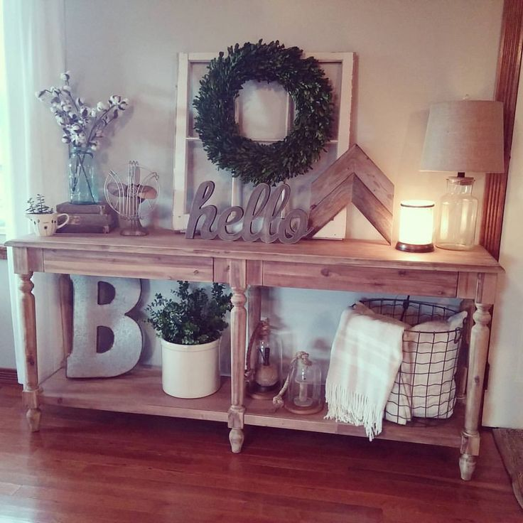 25 Best Hall Table Decor Ideas On Pinterest