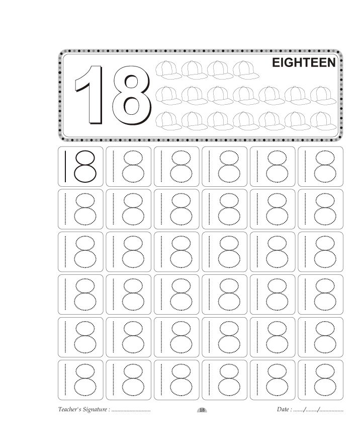 34 best Homeschooling: Number Tracing images on Pinterest