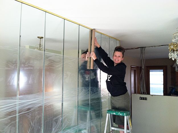 Removing A Mirrored Wall Mirror Mirror On The Wall