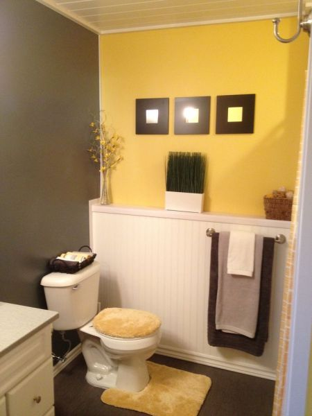 yellow and grey bathroom mirror 17 Best ideas about Grey Yellow Bathrooms on Pinterest | Yellow bathrooms, Yellow bathrooms