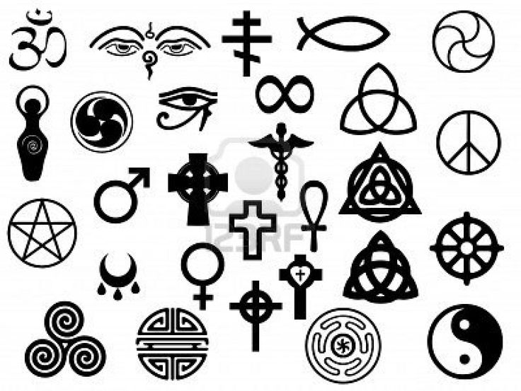 Vectors of sacred and healing symbols for use in artwork