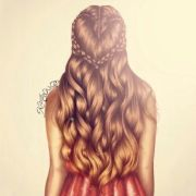 heart braid drawing. kristina