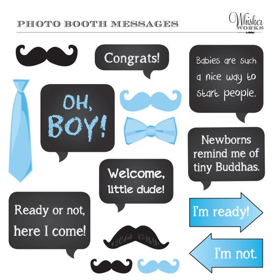 DIY Photo Booth Printables BABY SHOWER Its A Boy