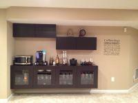 Coffee bar using IKEA Besta cabinets. | Basement ...