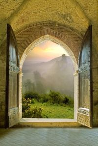 Arched Doorway, Tuscany, Italy....Opening the doors to the ...