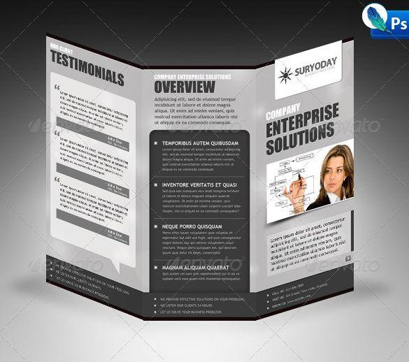 Tri Fold Brochure Templates 45 Free Word PDF PSD EPS - oukas.info
