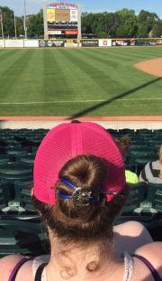 baseball game hair ideas