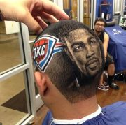 kevin durant hair portrait design