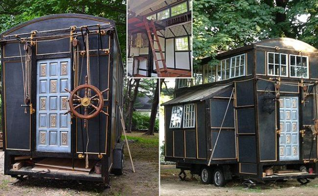 Couple S Tiny House Was Built Entirely From Torn Down