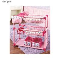 Doll Nursery Twin Crib Bunk Bed Baby High Chairs Play ...