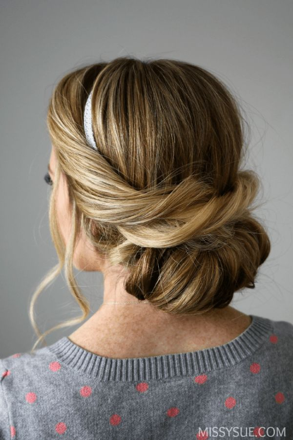 25 Best Ideas About Headband Updo On Pinterest Headband Tuck
