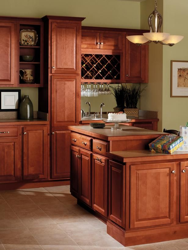 kitchen countertop decor target table and chairs quality cabinets harborview birch cinnamon | kitchens ...