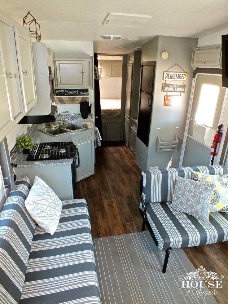 5th Wheel, bathroom, camping, countertop paint, epoxy, fabric, Fifth Wheel, flooring, floors, garage, glamping, grey and white,