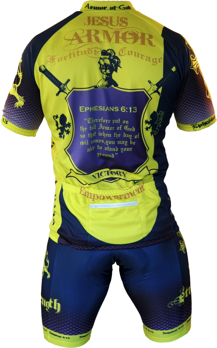Mens Armor of God Cycling Jersey  Cycling  Pinterest  Biking Jersey and Armors
