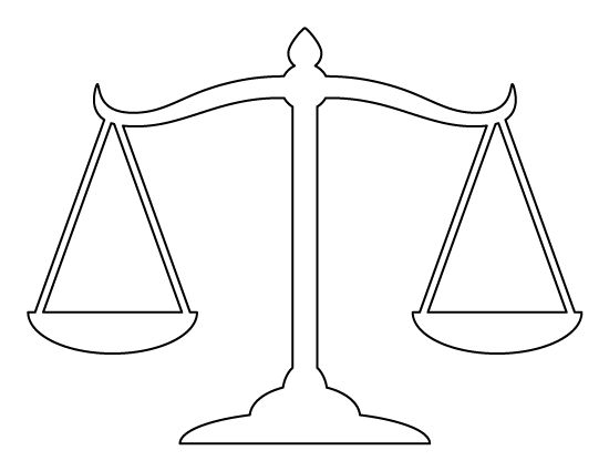 Scales of justice pattern. Use the printable outline for