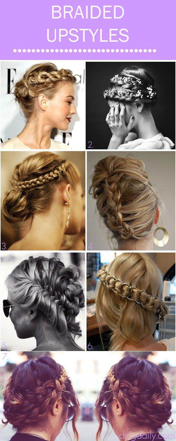 327 best images about Braided Hairstyles on Pinterest  Updo Crown braids and Buns