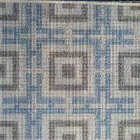 David Hicks Logo III Powder Blue broadloom carpet ...