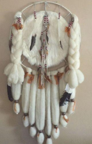 Vintage Native American Mandaladream catcherfurwool