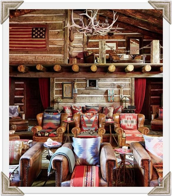 rustic cabin living room decorating ideas ena smart escape walkthrough ralph lauren's refined homes and chic madison avenue ...