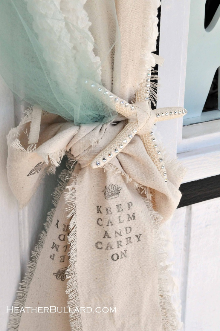 swags of tulle muslin starfishI made these and they