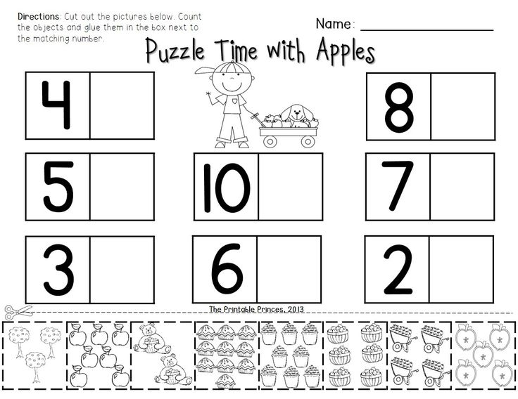 Apple themed reading and math activities for Kindergarten