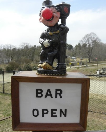 Vintage Bar Open Hobo Clown w Red Nose Light Lamp Works