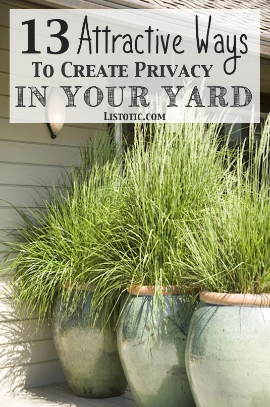 How to easily add privacy to a yard, deck or patio – great for urban dwellers or folks that live in older, squishy (houses close together)