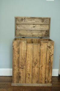 Wood Garbage Can Holder - WoodWorking Projects & Plans