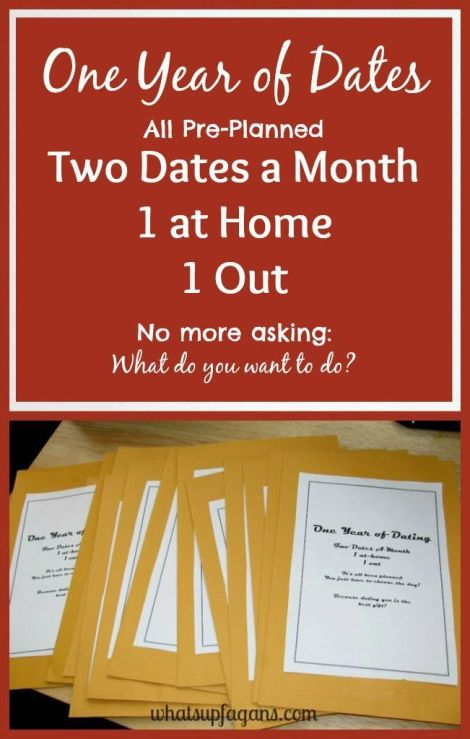 "How to create ""A Year of Dates"" Gift - Perfect present idea for a birthday or anniversary; or for Valentine's Day, Father's Day, Mother's Day, or Christmas!:"
