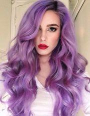 ideas purple hair