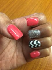 ideas coral gel nails