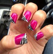 zebra nails ideas