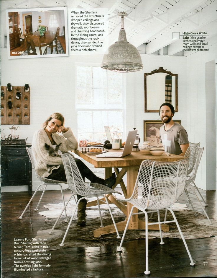 dark kitchen table low flow faucet country living september 2013 leanne ford shaffer and brad ...