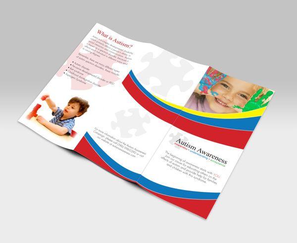 Autism Awareness Brochure On Behance Autism FAQs Pinterest
