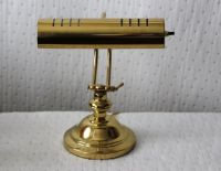 Vintage Brass Adjustable Electric Table Lamp, Piano Lamp ...