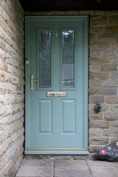 Ludlow 2 composite door in chartwell green with Brilliante
