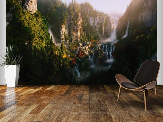 Rivendell Wall Mural by WallSauce, Lord of the Rings