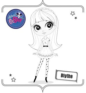 Littlest Pet Shop and Blythe Printable Coloring Pages