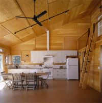 Hood Canal Cabin- stained plywood paneling | My ...