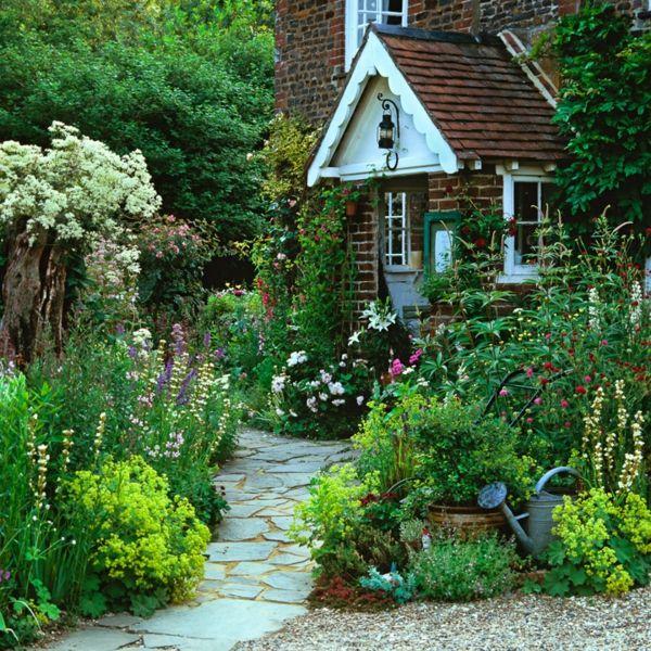 vorgartengestaltung landhaus » terrassenholz,