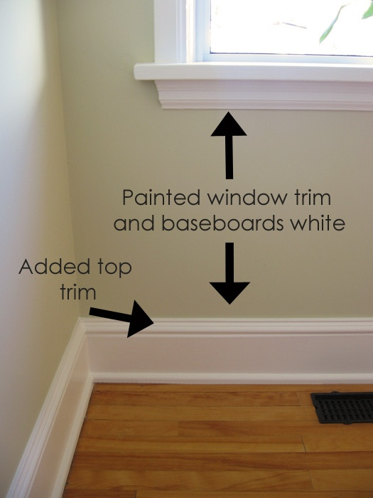 TtageCute Adding Trim To Our Baseboards
