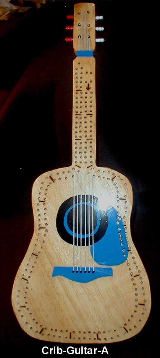 white living room side table colour schemes grey and blue guitar shaped cribbage board | gifts by ginny pinterest ...