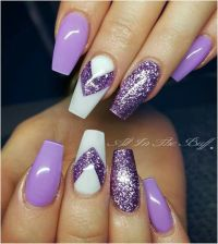 25+ great ideas about Purple gel nails on Pinterest