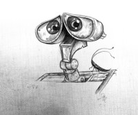 "*Pencil Sketch - ""Wall-e"" by David Mott 