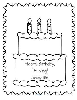"""***FREE*** """"Happy Birthday, Dr. King"""" poster for early"""