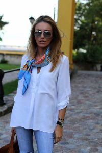 415 best images about Square Scarf and Ways to Wear it on ...