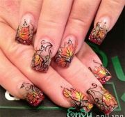 amazing fall autumn nail