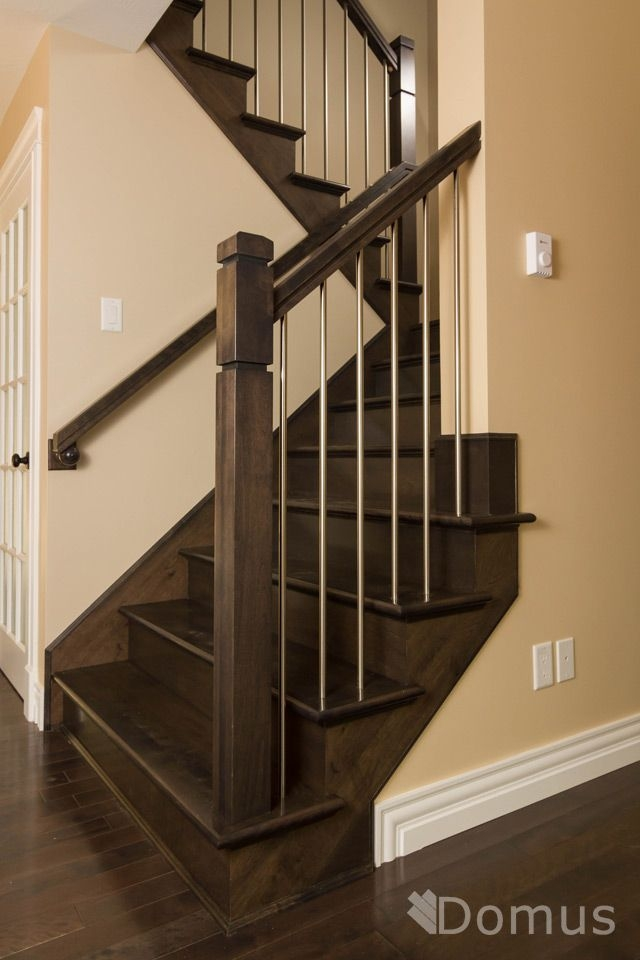 Modern Staircase With Zen Posts And Stainless Steel   Modern Metal Stair Spindles
